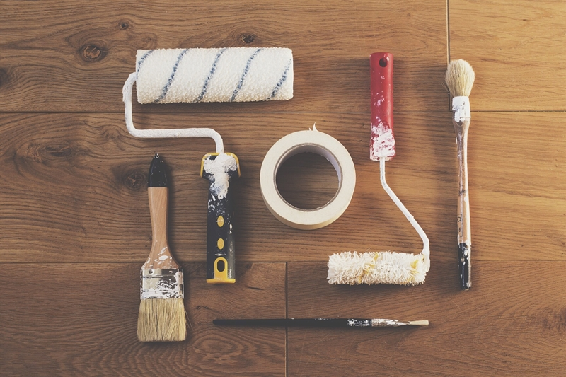 Having a variety of painting tools at the ready will make the job a lot easier and more effective.